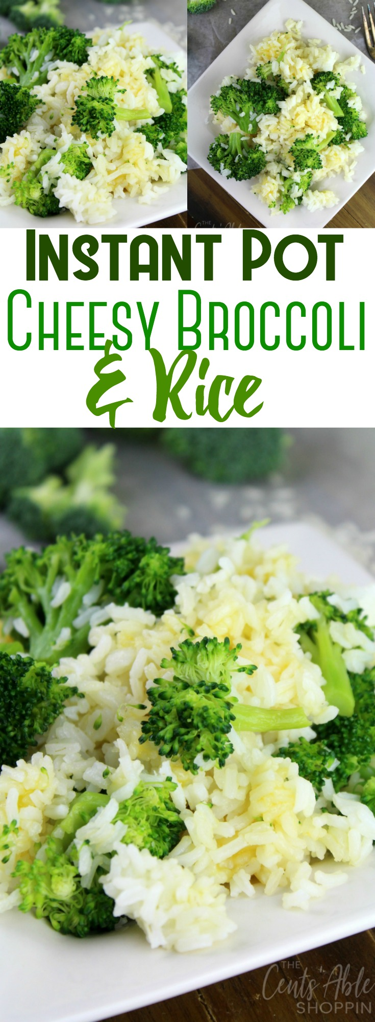 Combine simple, healthy ingredients to make this delicious Cheesy Broccoli and Rice in under 20 minutes using your Instant Pot!