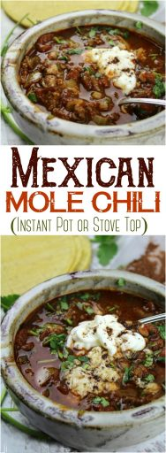 Mexican Mole Chili (Instant Pot or Stove Top)