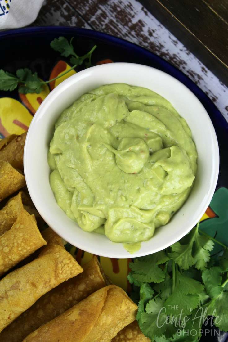 These baked potato taquitos are a wonderful meatless meal opportunity - easy to put together and delicious with creamy avocado dip!
