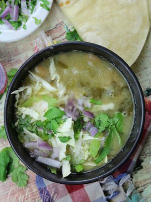 Meatless Tomatillo and Bean Soup