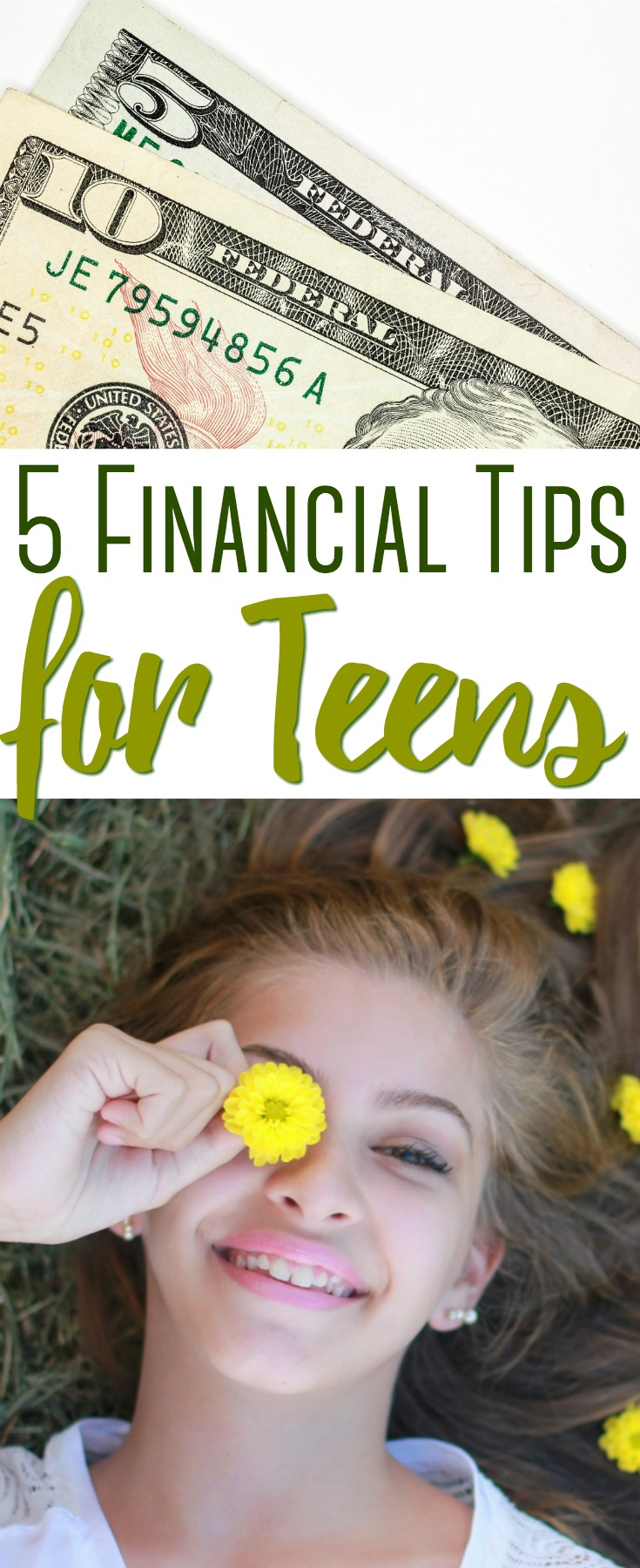 Teaching your teenager how to handle money properly is something that can have a positive effect into other areas of their life. Here are the 5 BEST financial tips you'll want to teach to your teen!