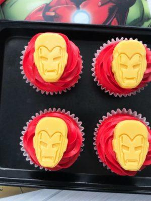 Iron Man Cupcakes