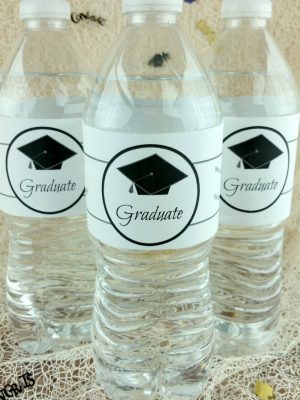 Graduation Water Bottle Wraps