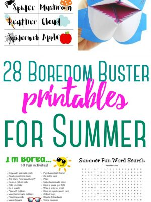 28 Boredom Buster Printable Activity Sheets
