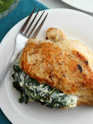 Keto Spinach and Feta Stuffed Chicken