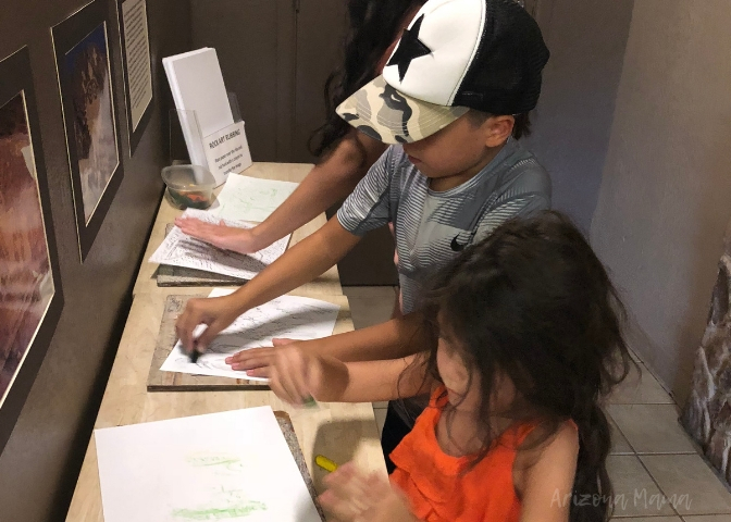 Kids hands-on activity at Besh Ba Gowah Archaeological Ruins in Globe, Arizona || Besh Ba Gowah Archaeological Park and Museum is a prehistoric Salado masonry pueblo located one mile southwest of the city of Globe, Arizona.