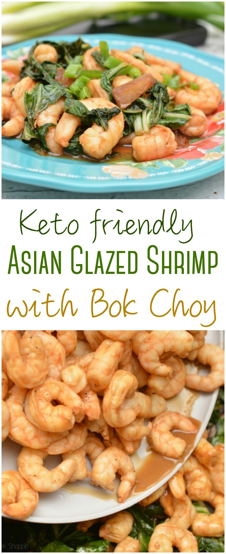 A simple recipe that doesn't skimp on taste, this Asian Glazed Shrimp with Bok Choy is Keto-friendly, simple, and delicious!