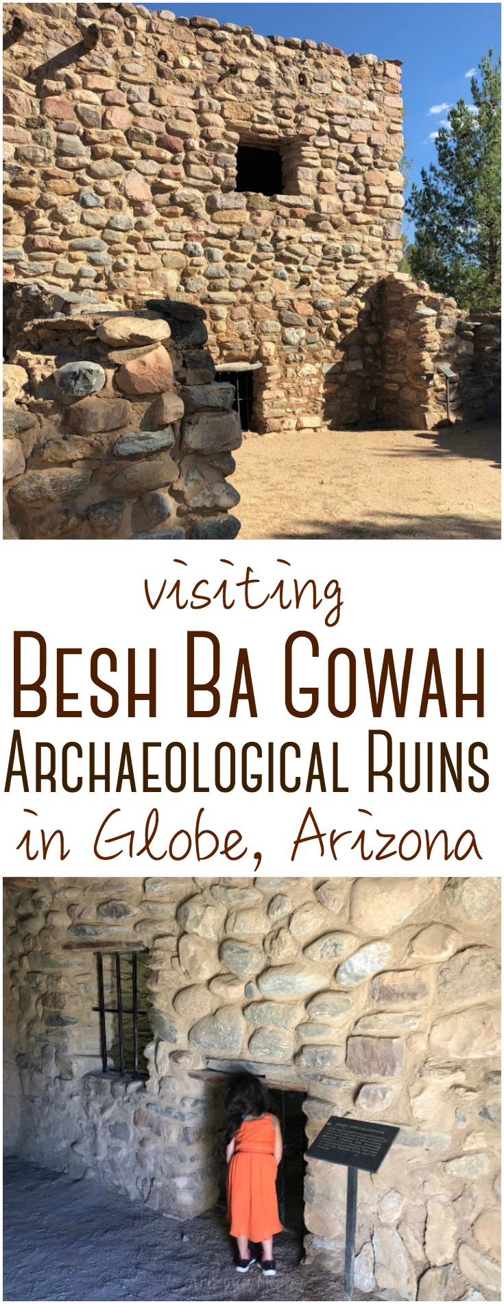 Besh Ba Gowah Archaeological Park and Museum is a prehistoric Salado masonry pueblo located one mile southwest of the city of Globe, Arizona.
