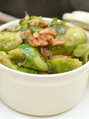 Keto Brussels Sprouts in Pecan Butter