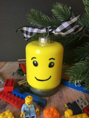 LEGO Head Minifig Ornament