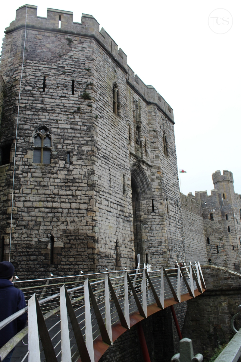 Caernarfon Castle is one of the top tourist attractions in Wales, and one  of a series of castles built by King Edward I over 700 years ago.