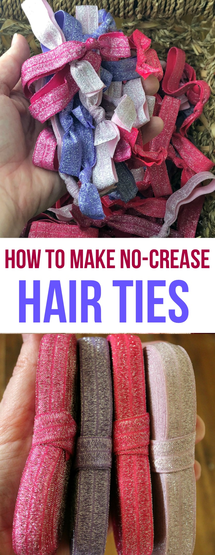 Easily make your own no-crease hair ties for literally pennies each! These ties are perfect for a girl of any age - to gift, for birthdays, and more!