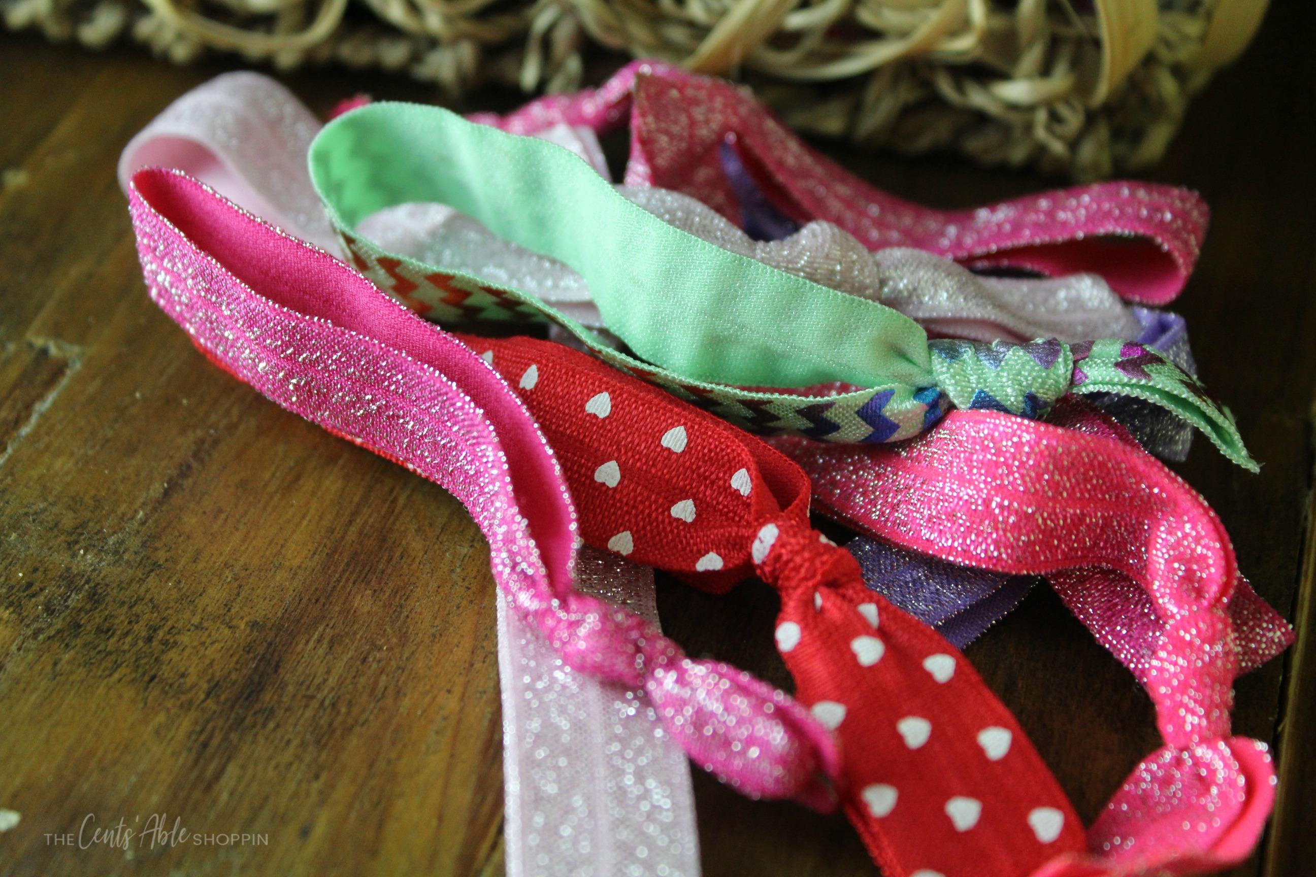 DIY Hair Tie Valentine