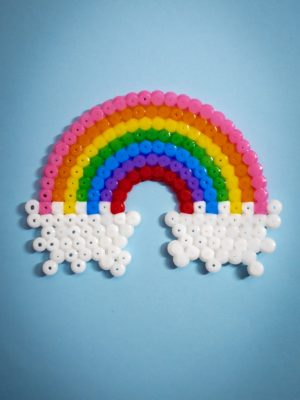 Perler Bead Rainbow Craft