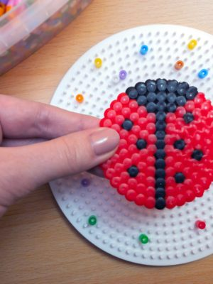Perler Bead Ladybug Craft