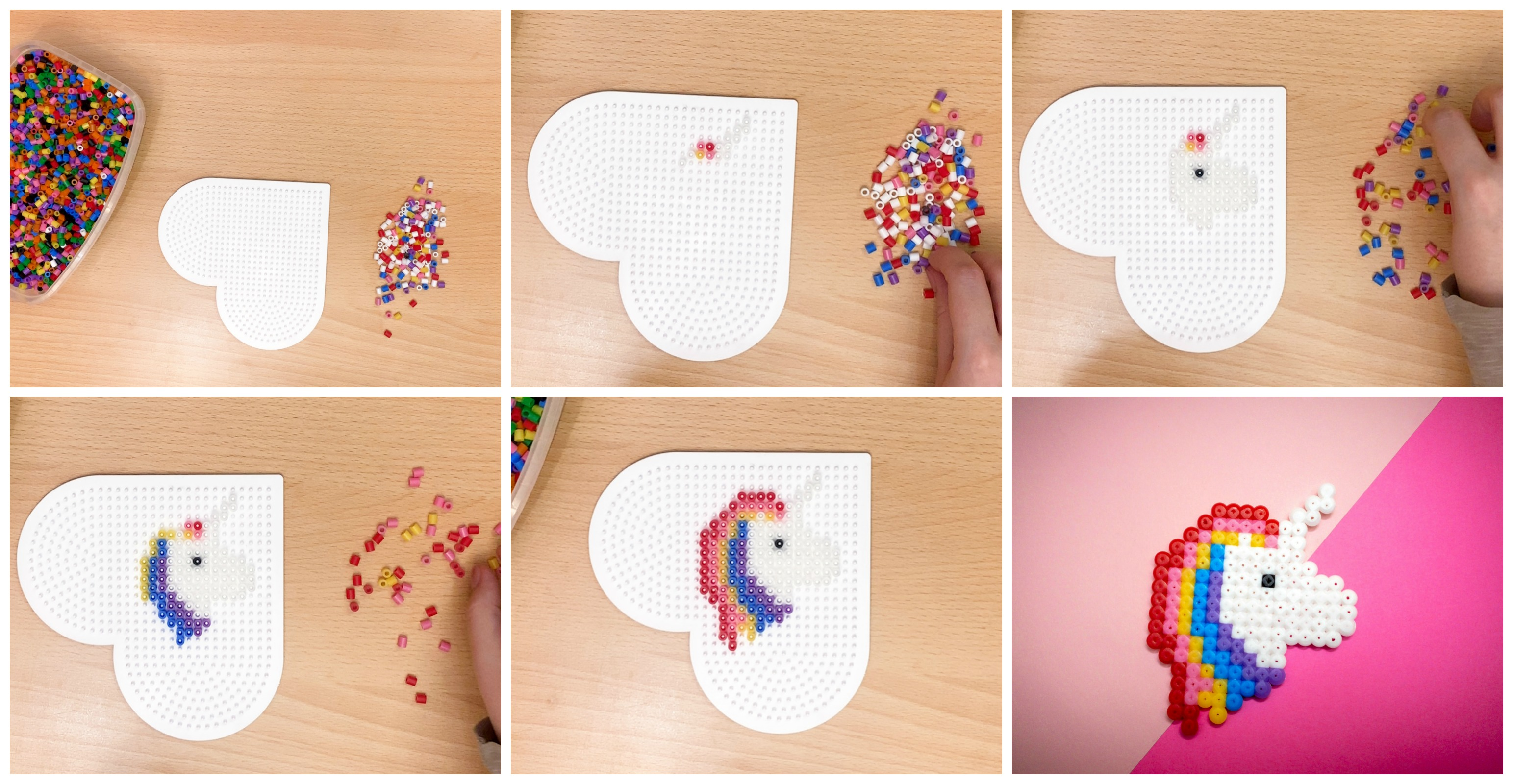 Step by Step: Perler Bead Unicorn