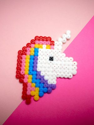 Perler Bead Unicorn Craft