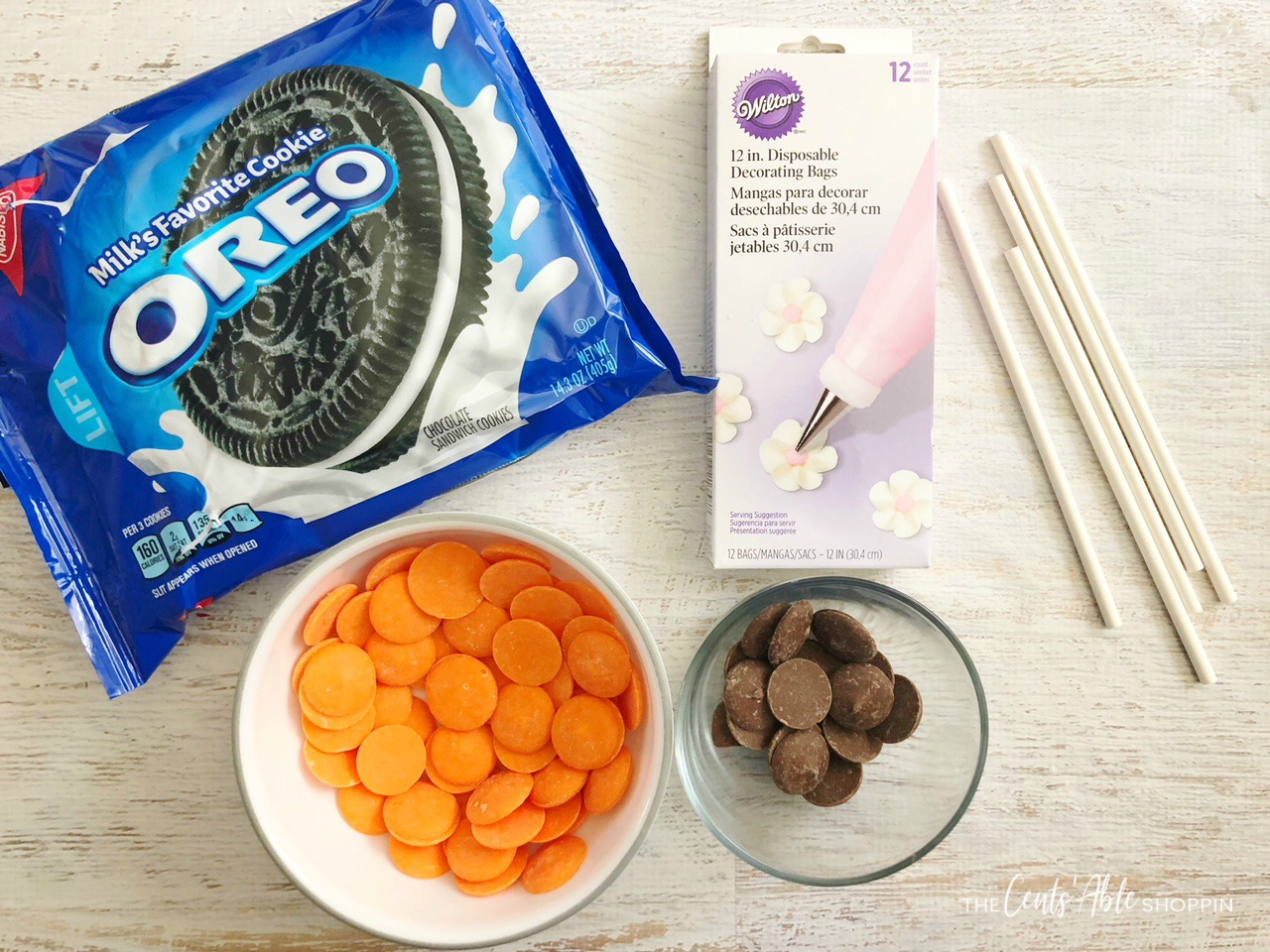 Gather your ingredients! \\ Yummy Basketball Oreo Pops - the perfect way to celebrate a successful season or a delicious treat to serve at game time!