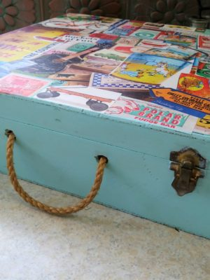 Decoupage Wood Memory Box