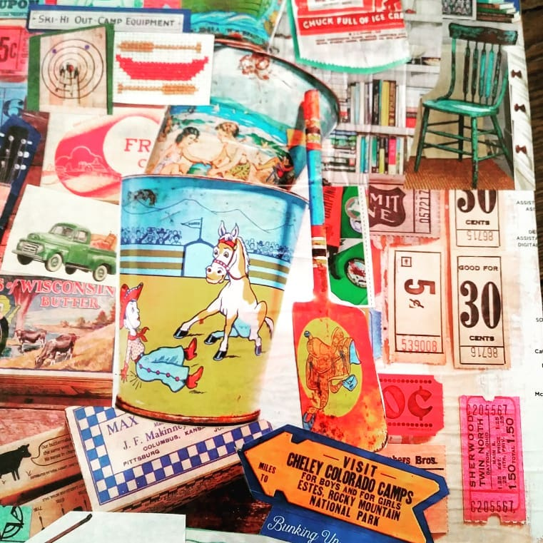 Magazine inspiration \\ This decoupage wood memory box combines your favorite inspirational art to create a one-of-a-kind keepsake to store vacation memories or momentos.