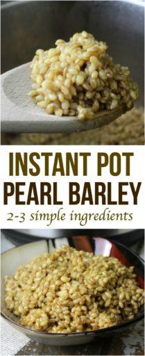 Instant Pot Pearl Barley