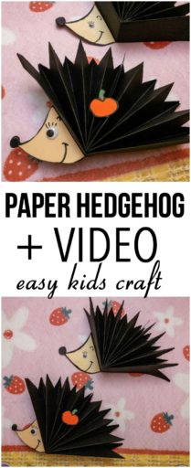 Paper Hedgehog Kids Craft