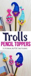 Trolls Pencil Toppers
