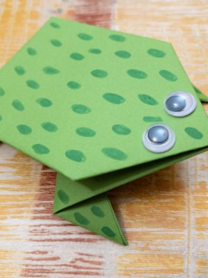 Paper Leap Frog Craft