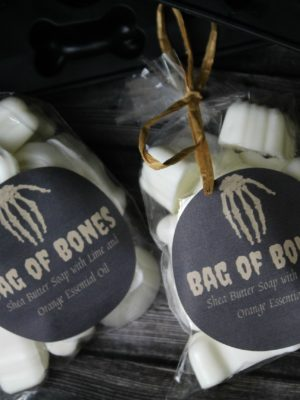 Halloween Bag of Bones Soap Favors