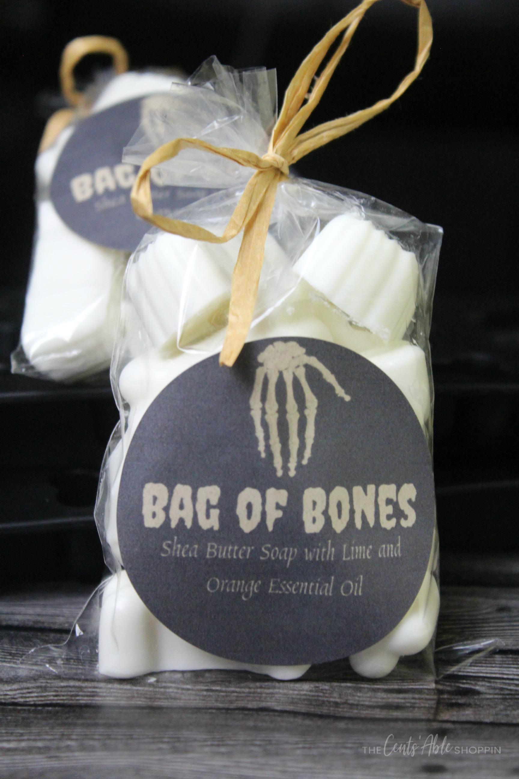 Bag of Bones Soap Favors