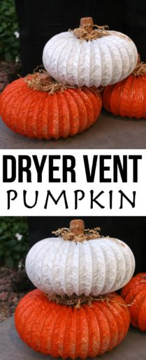 Dryer Vent Pumpkin DIY