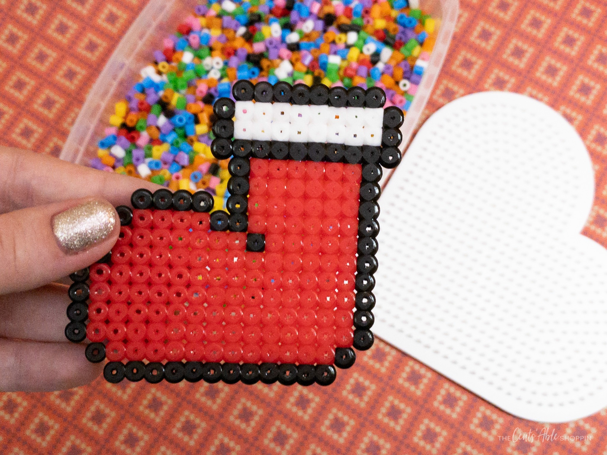 Perler Bead Christmas Stocking