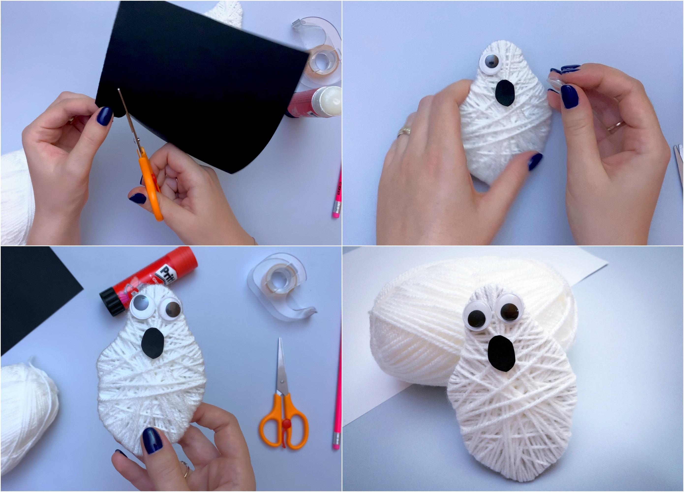 Yarn Ghost Craft - Step by Step