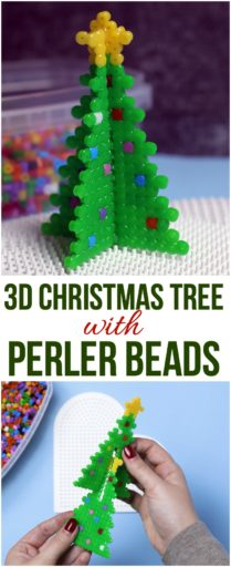 3D Christmas Tree with Perler Beads