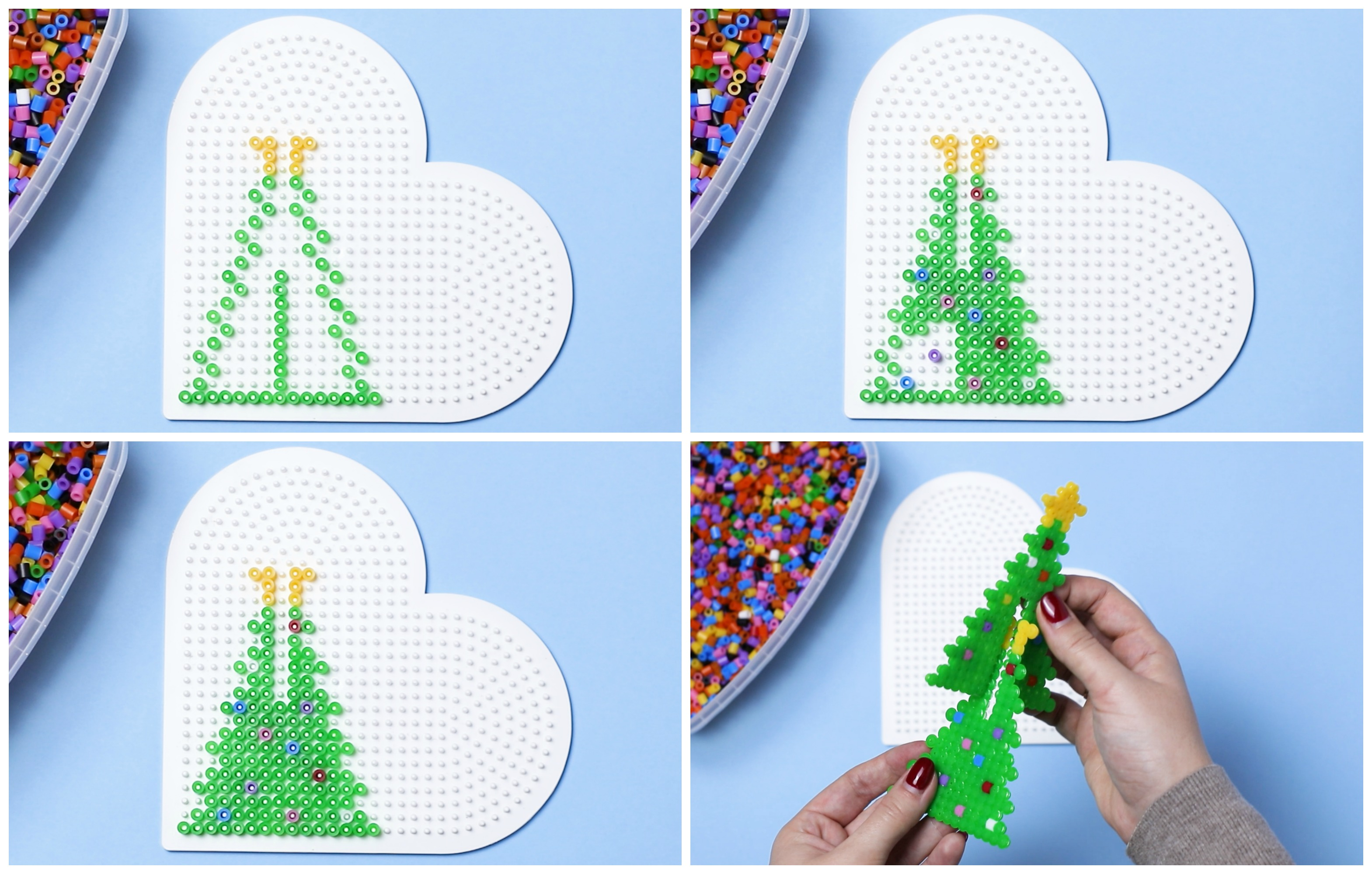 3D Christmas Tree Perler Bead Project