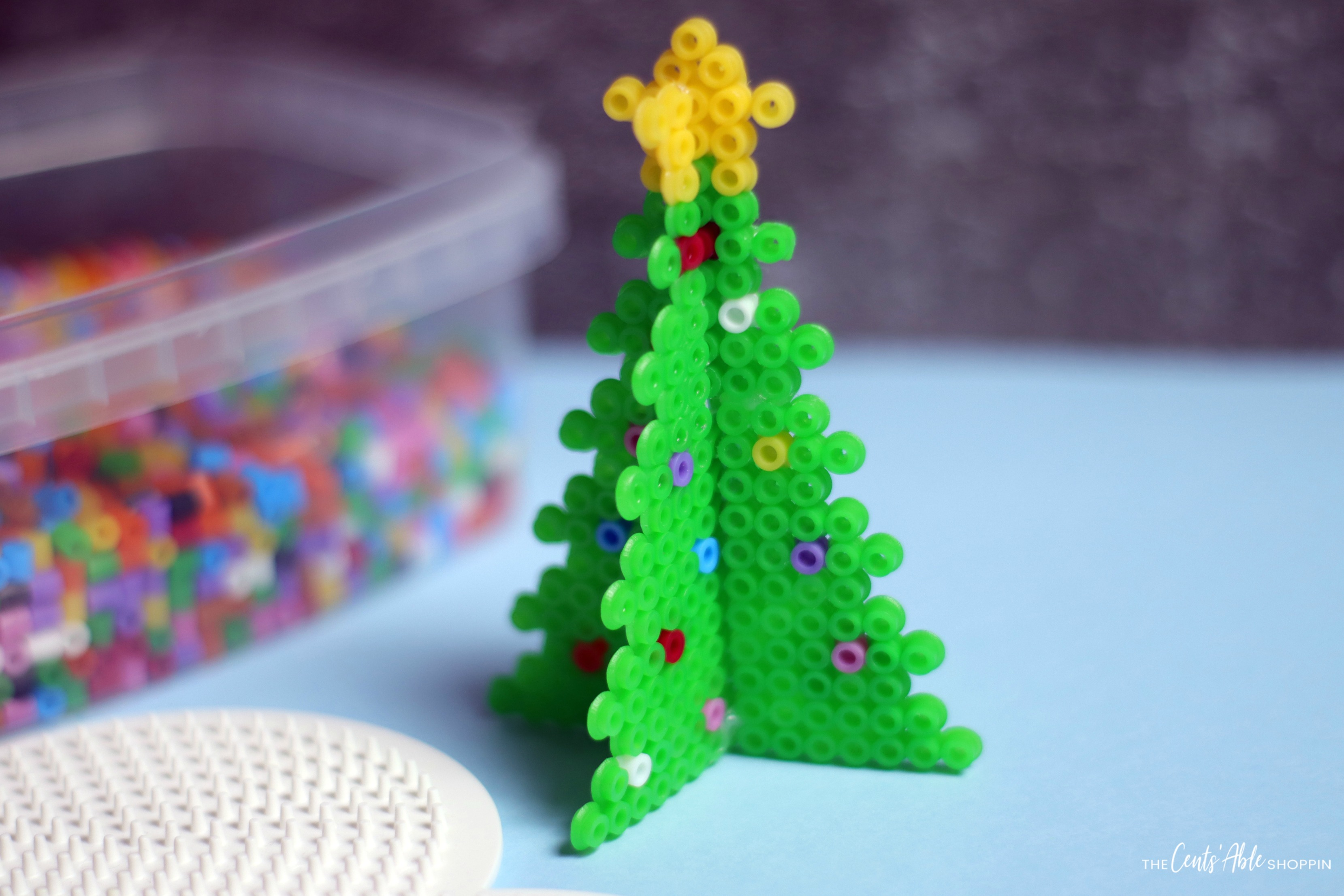 Christmas Tree Perler Bead Project