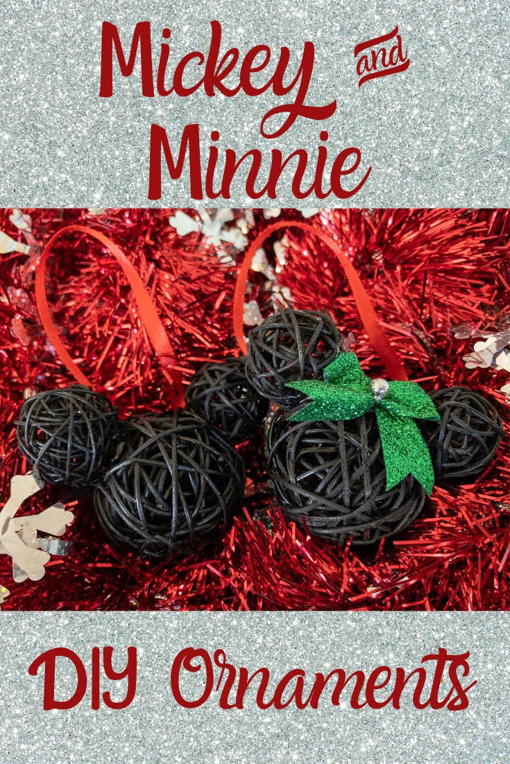 Mickey and Minnie Mouse Christmas Ornament