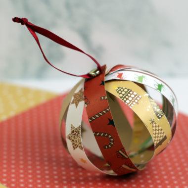 Paper Strip Christmas Ornament
