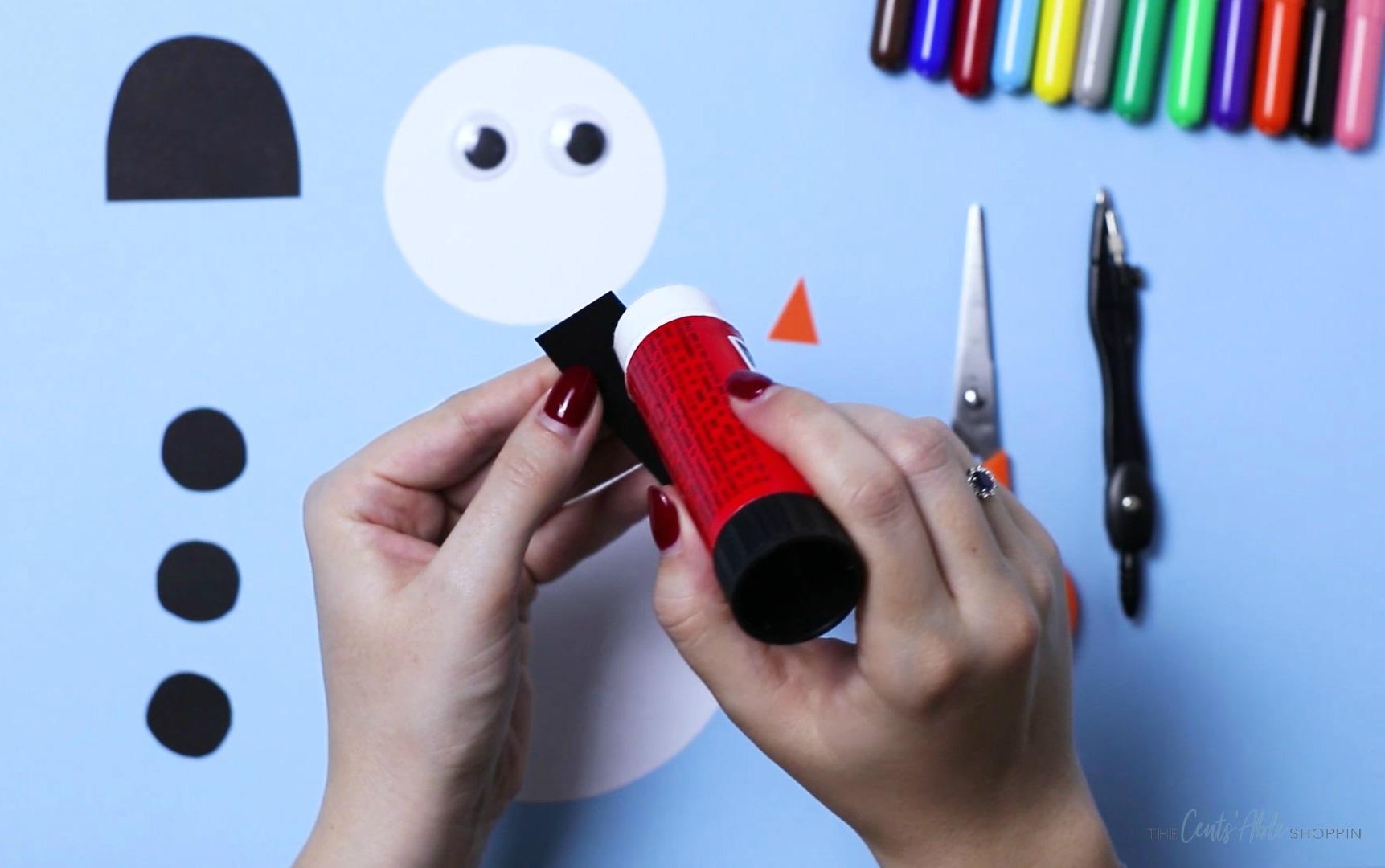 Paper Snowman Craft Glue