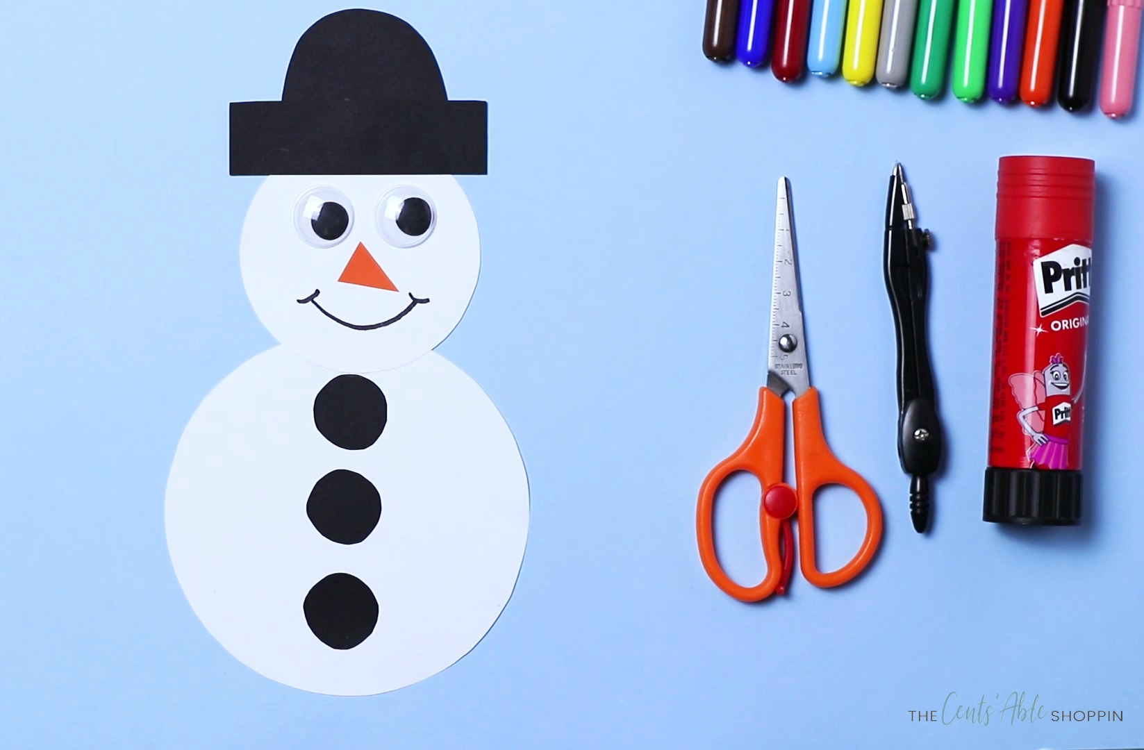 Easy Paper Snowman