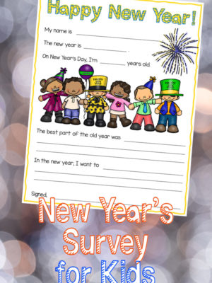 New Year's Eve Survey for Kids