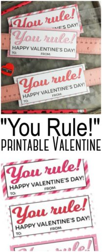 You Rule! Printable Valentine