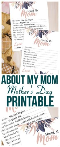 About My Mom Mother's Day Printable (1)