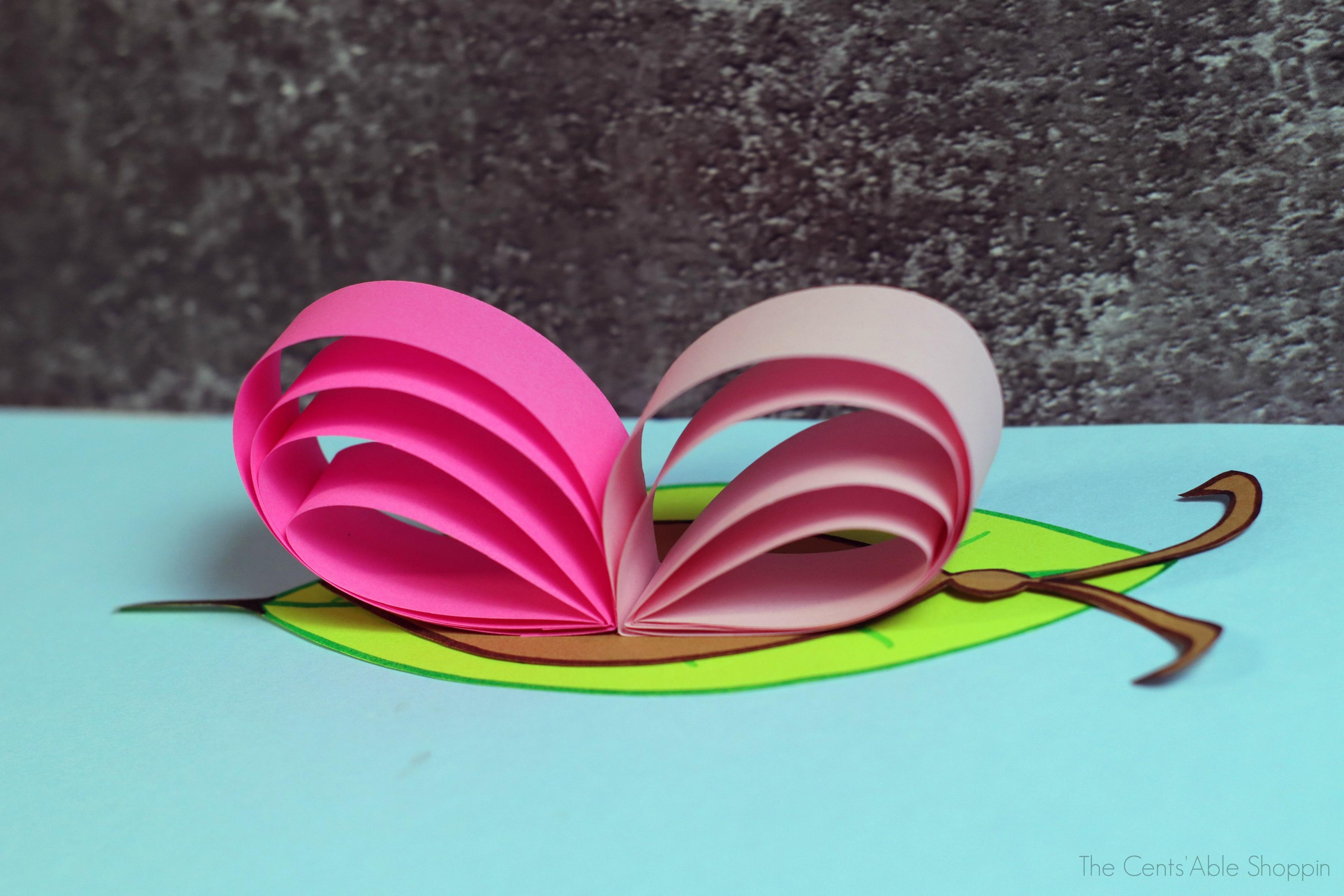 Paper Butterfly Kids Craft