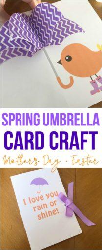 Spring Umbrella Card Craft