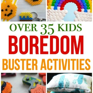 Over 35 Kids Boredom Buster Activities to keep kids busy at home - from pencil toppers to salt dough, bead and paper projects and more!