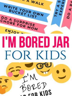 I'm Bored Jar for Kids