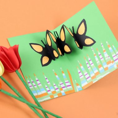 Butterfly Pop Up Card Paper Craft