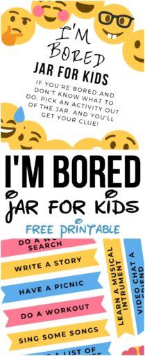 I'm Bored Jar for Kids