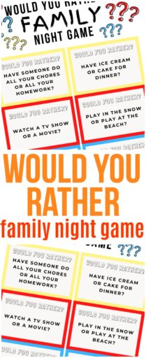 Would You Rather Family Night Game